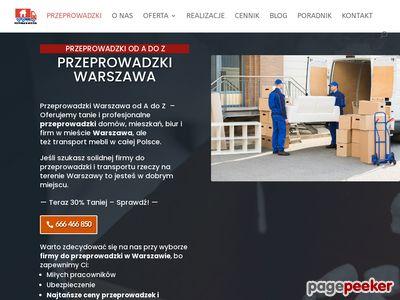 Przeprowadzki Warszawa. Transport mebli
