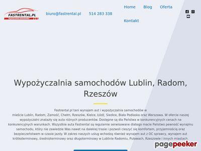 Fastrental.pl wypożyczalnia samochodów Lublin Radom Zamość Rzeszów