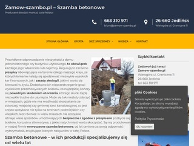 Zbiorniki betonowe   zamow-szambo.pl