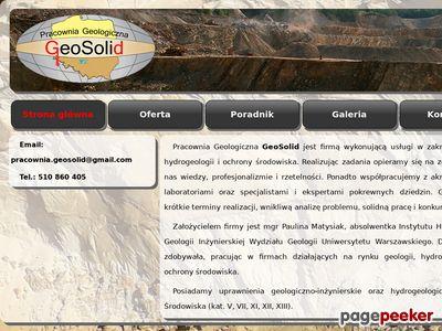 Usługi geologiczne i geotechniczne