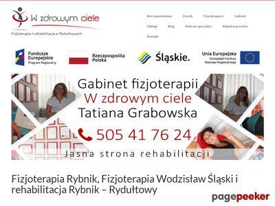 Rehabilitacja Rybnik - wzdrowymciele.pl