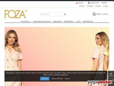 Sklep internetowy z damską odzieżą i dodatkami