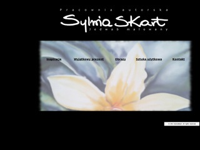 SylwiaSKart - wyjatkowy jedwab recznie malowany